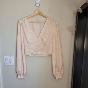Urban Outfitters faux wrap top